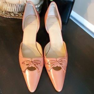 Ann Klein Kitten Heel Point Toe W Bow Shoe Size 8M